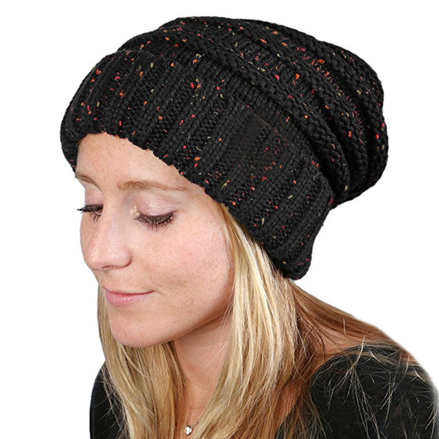Winter Skullies Beanies Hat for A Girl Knit Cap Crochet Stylish Knitted  Female Hats Women Vintage 1a191922a7a