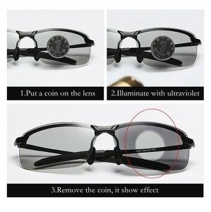 Image 2 - نظارات شمسية جديدة 2018 باللونية المستقطبة للإضاءة الليلية كل قيادة الصيد نظارات شمسية للرجال بإطار معدني UV400 تصميم عصري 3043