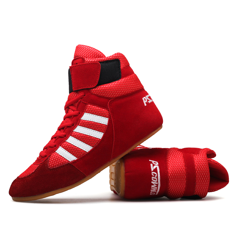 Authentic VeriSign wrestling shoes for men training shoes tendon at the end leather sneakers professional boxing shoes wrestling shoes