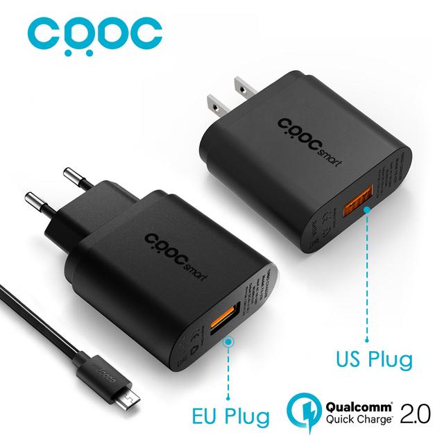 Para Qualcomm Carga Rápida 2.0 18 W CRDC USB Cargador Inteligente Rápido lg cargador de pared cargador de teléfono móvil para samsung xiaomi aukey hecho