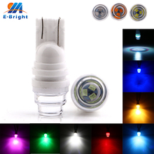 цена на 20pcs 12V DC T10 2835 3 SMD W5W 194 LED Signal Lamp Bulbs Car Door Clearance Lights White Blue Red Amber Green Ice Blue Pink RGB