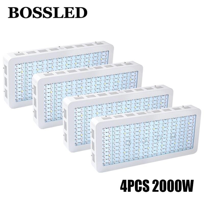 4 pçs/lote BOSSLED cresce a luz led 2000 W full spectrum para plantas de interior com efeito de estufa crescer lâmpada led para todo o crescimento fase de hidroponia