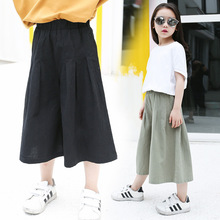 2016 Mother Daughter Wear Batwing Sleeve Tops Blouse Casual T Shirt+ Wide Leg Pants Girls Leggings baby dress pant clothing sets