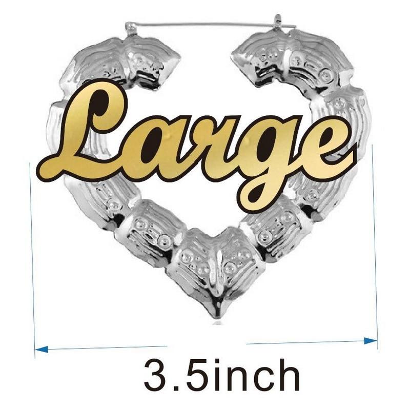 3.5inch silver heart