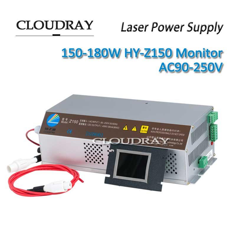 Cloudray 150 180 Вт Лазерной Co2 Питание для co2 лазерная гравировка Резка машина сертификат CE AC90 250V hy z150