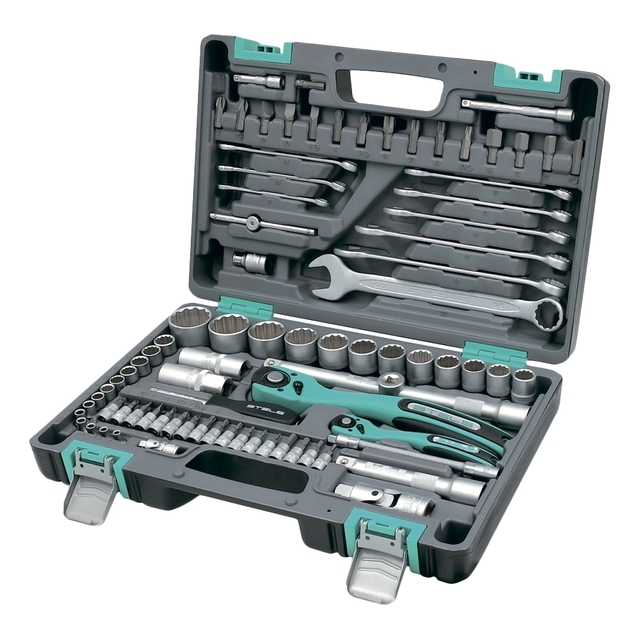 Набор инструментов STELS 14117 (82 предмета из высококачественной стали, кейс в комплекте)