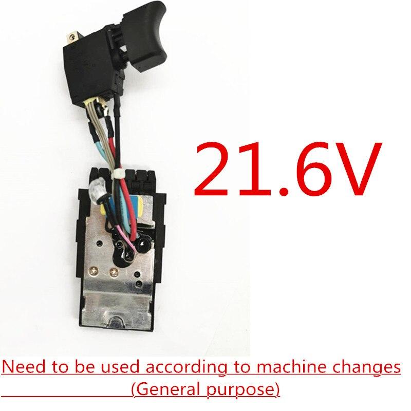 21.6V przełącznik wymienić na Hilti SF22 A SFH22 A SIW22T A SF10W A22 SFC 22A SF22A SFH22A SIW22TA SF10WA22 SF6A22 w Akcesoria do elektronarzędzi od Narzędzia na