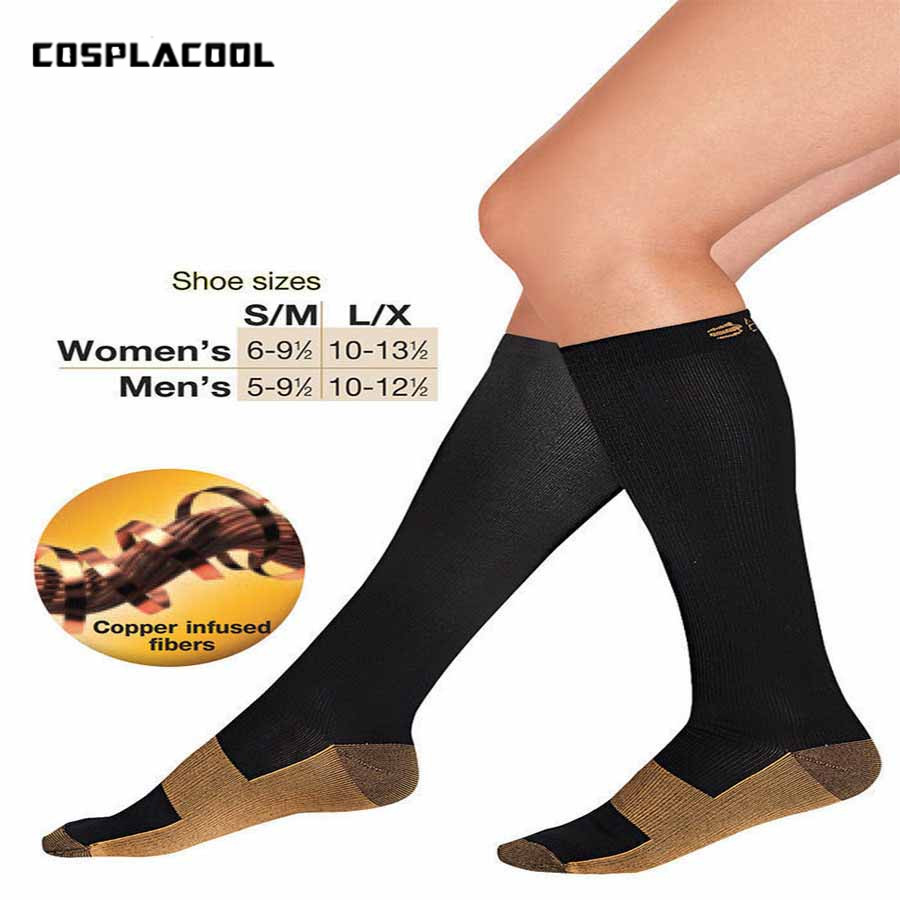 [COSPLACOOL]2017 Stocking Relief Copper Anti-Fatigue Compression Men   Socks   Tired Achy Unisex Anti Fatigue Magic Meias