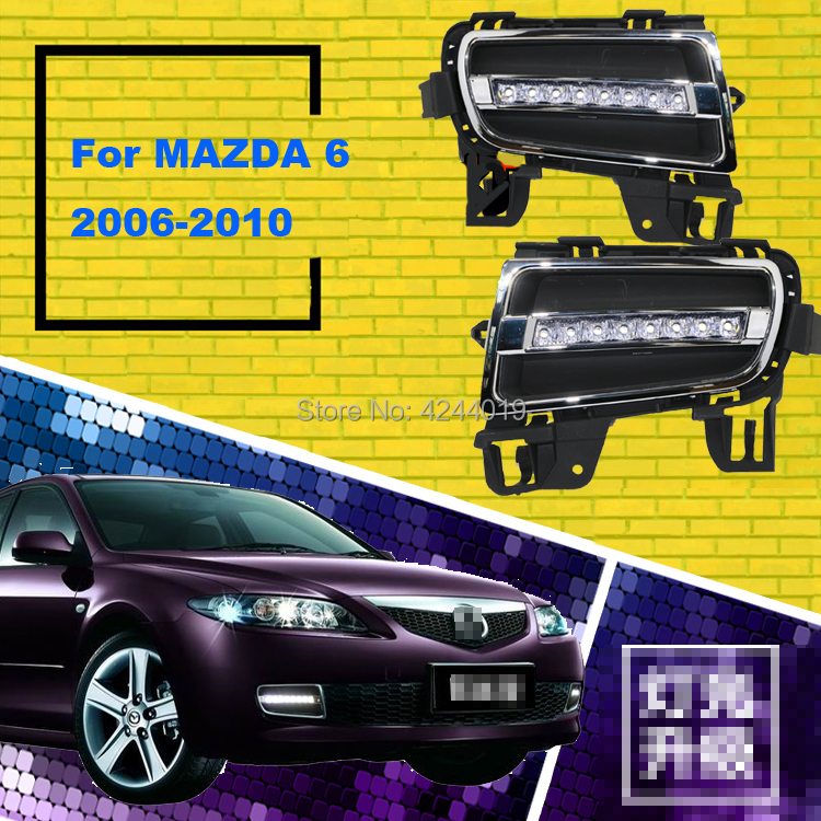 smRKE Car Light Fog Lights Daytime Running Lights <font><b>LED</b></font> Light Bar For 2006-<font><b>2010</b></font> <font><b>Mazda</b></font> <font><b>6</b></font> image