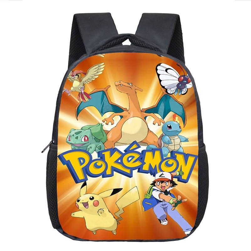 3D печать Ash Ketchum/Пикачу Школа Рюкзаки Pocket Monster школьная сумка аниме Покемон backpacktoddler для девочек и мальчиков детские книги Сумки