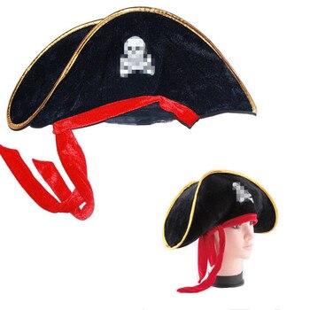 De Halloween sombrero de pirata traje divertido sombreros adultos niños  pirata Accesorios Sombrero pirata adulte c06c44613cc8