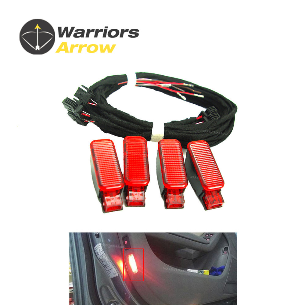 8KD947411 6Y0947411 For <font><b>Audi</b></font> A3 <font><b>A4</b></font> B8 A5 A6 A7 A8 Q3 Q5 TT RS x4 Door Panel Warning Light Lamp + Wire Harness image