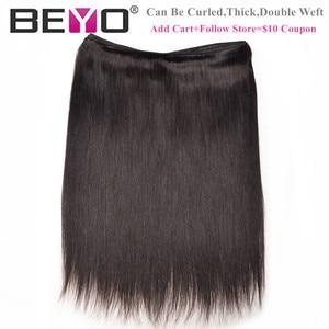 Image 4 - ストレート髪のバンドル生インドの髪織りバンドル 100% 人毛バンドルナチュラルブラックヘアエクステンション beyo remy 毛 10A