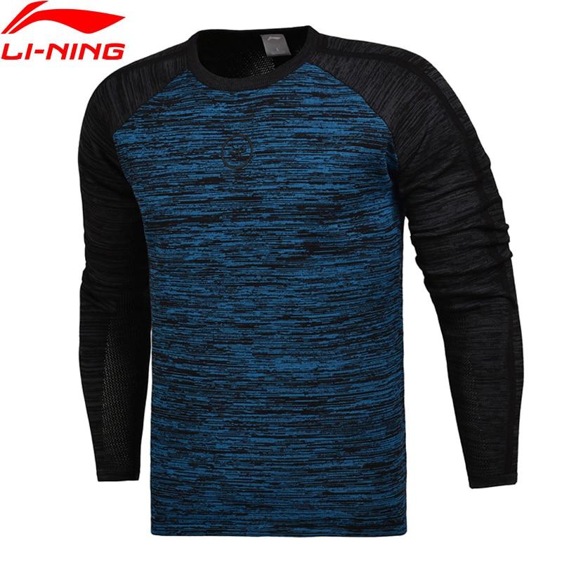 Li Ning Men Wade Series PO Sweaters 54 Cotton 46 Polyester Knit Slim Fit Comfort LiNing