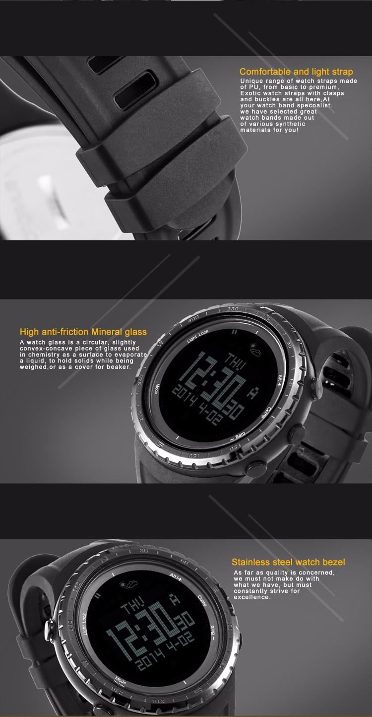 b5937a6e9 SUNROAD FR801B2 Waterproof Watch Men Digital Watch Barometer ...