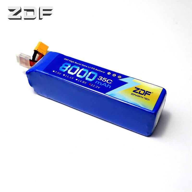 ZDF Bateria AKKU 6 S 22.2 V 8000 mAh 35C max 70C LiPo batterie Traxxas pour RC hélicoptère avion voiture bateau