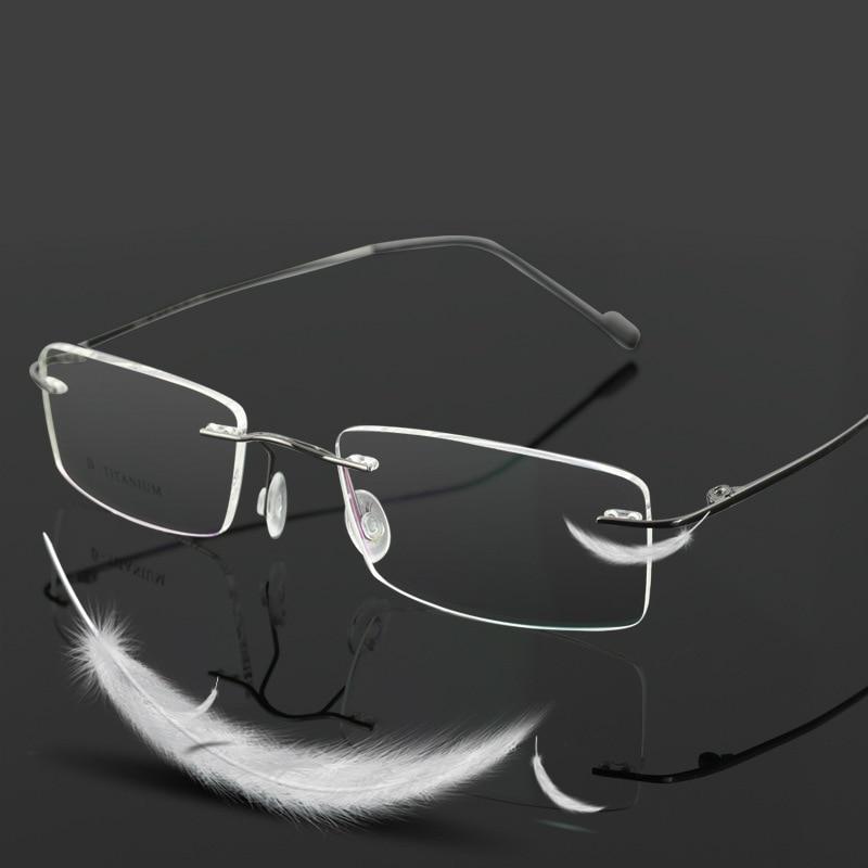 Vazrobe (3g) occhiali al titanio Uomo Donna Telaio per Ottica di Prescrizione di miopia Degli Uomini Chiari Occhiali da Vista Da donna Maschio frameless diottrie