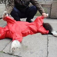 BENMEI 2017 Pet Маленький Большой Собака Плащ Одежда Для Животных Собака Плащ С Капюшоном Водонепроницаемый Дождь Прекрасный Куртки Пальто Одежда Одежда