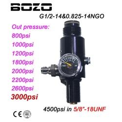 جديد الألوان HPA PCP 4500psi الهواء المضغوط خزان منظم الضغط الناتج 800/1000/1200/1800/2000 /2200/2600psi خزان 5/8