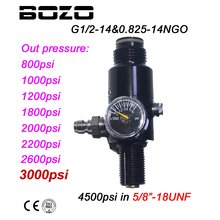 Compressed-Air-Tank-Regulator -18UNF Paintball Output-Pressure Pcp Hpa 4500psi 2200/2600psi-Tank