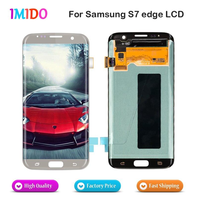 Approvisionnement d'usine OEM LCD Écran d'affichage Pour Samsung Galaxy S7 Bord LCD Tactile Avec Cadre G935F G935FD LCD Digitizer Remplacement