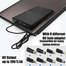 Vinsic ноутбука Мощность Bank 30000 мАч ноутбук Мощность банк DC 19 В 3.5A USB 2.4A Портативный Зарядное устройство для IPhone IPad Xiaomi Huawei Samsung