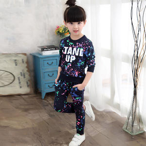 Image 4 - ילדי בגדי סתיו אביב בנות בגדי סט תלבושת ילדים בגדי ילדה חליפת ספורט ילדה בגדי סטי 3T 14TYear