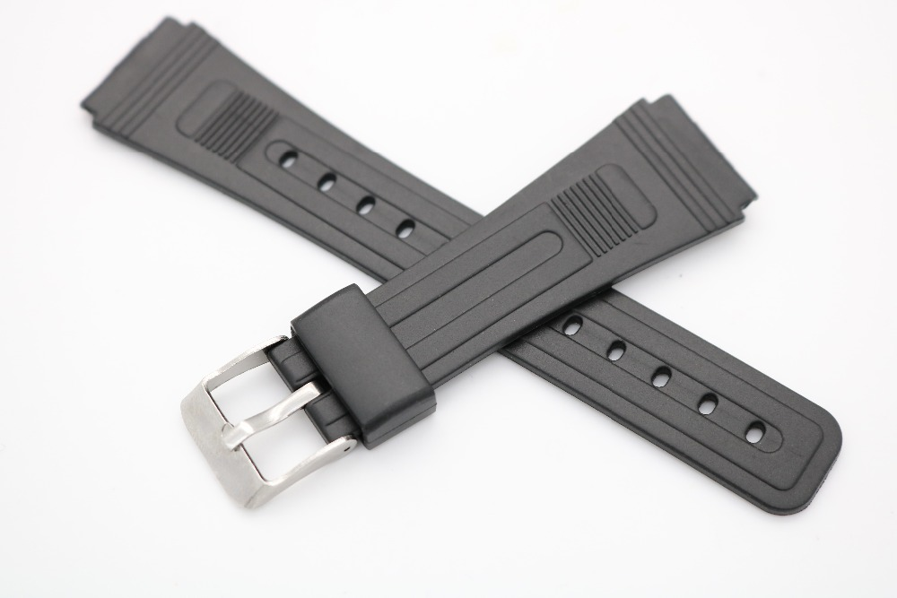 20mm(16mm buckle)Hot Men Lady Black Silicone Rubber  Straight  End watchband Strap Belt Silver Polished Pin Spring Bar Buckle led телевизор samsung ua48ju6800jxxz 48 4k wifi led