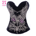 Corzzet  Pattern Print Cotton Push Up Bra Top Bustier Sexy Gothic Women Espartilhos Corset Corselet Overbust Burlesque Clothing