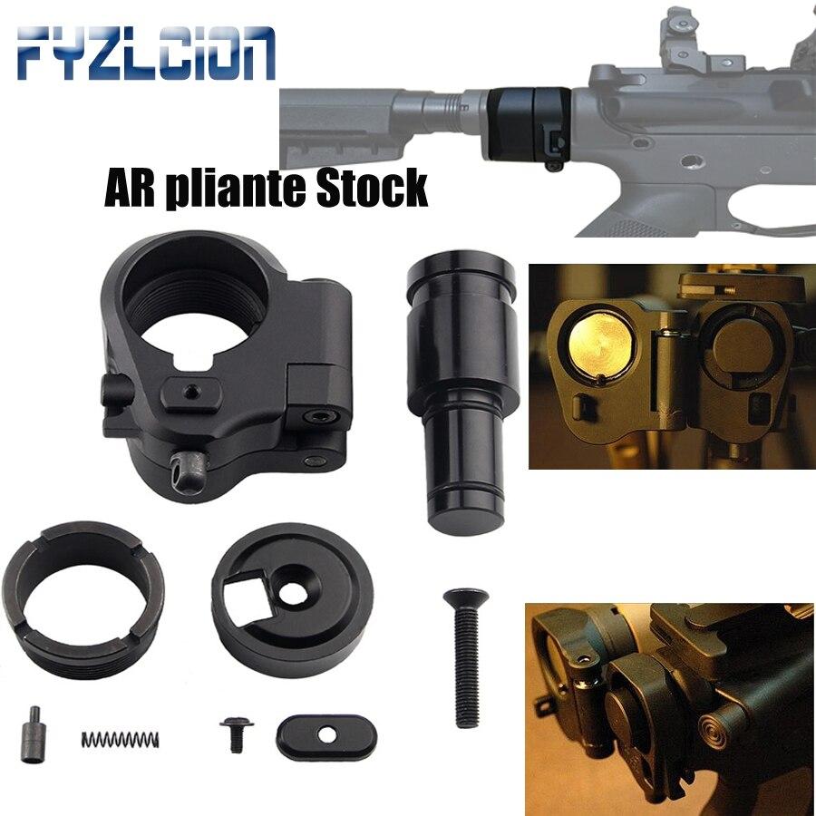 Accessoires de chasse tactiques extérieures de haute qualité adaptateur de Stock pliable AR pour M16/M4 SR25 Series GBB (AEG) pour fusil à Air comprimé