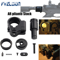 High Quality Outdoor Tactics Hunting Accessories AR Folding Stock Adapter For M16/M4 SR25 Series GBB(AEG) For Airgun Air Rifle