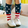 Mamimore Flag Knee Girls Socks for Boys And Girls Long Sports Decoration Baby Socks Cotton New Kids Baby Socks Fashion Hot Sale