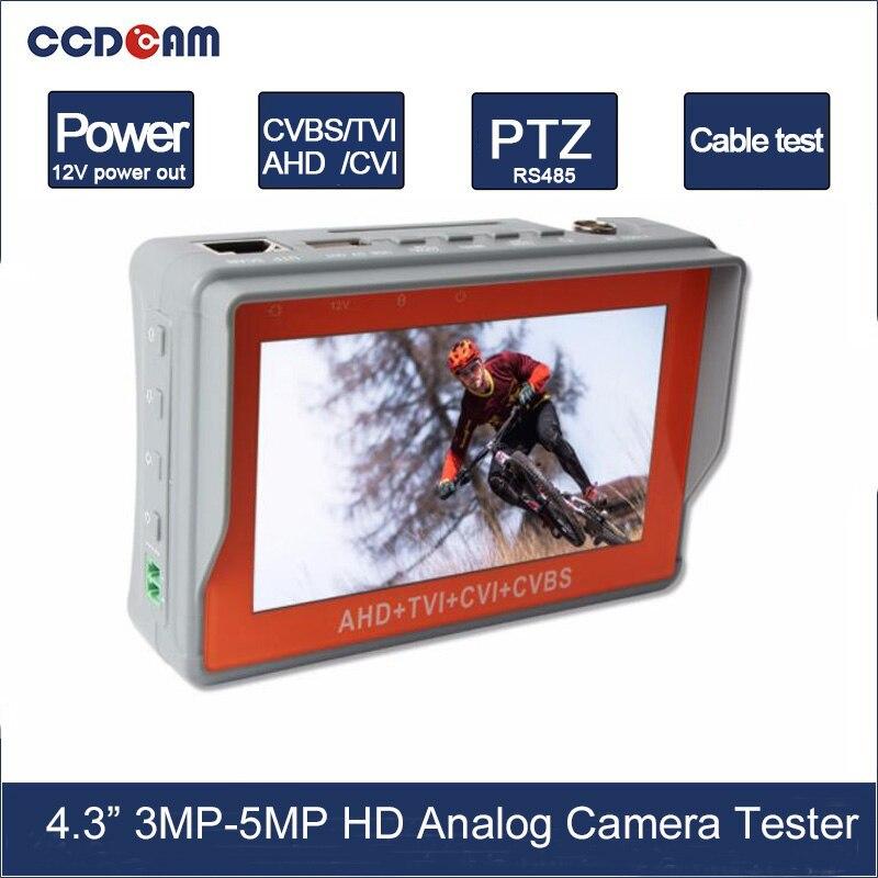 4.3 Pouce HD AHD 5MP 4MP 3MP CCTV Testeur Moniteur TVI 5MP CVI 4MP Caméra Analogique Testeur