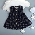 Nuevo 2016 del otoño del resorte del chaleco Vestido Party Tutu Vestido sin mangas de los Bebés recién nacido Vestido de polka dot vestidos de niña de niño