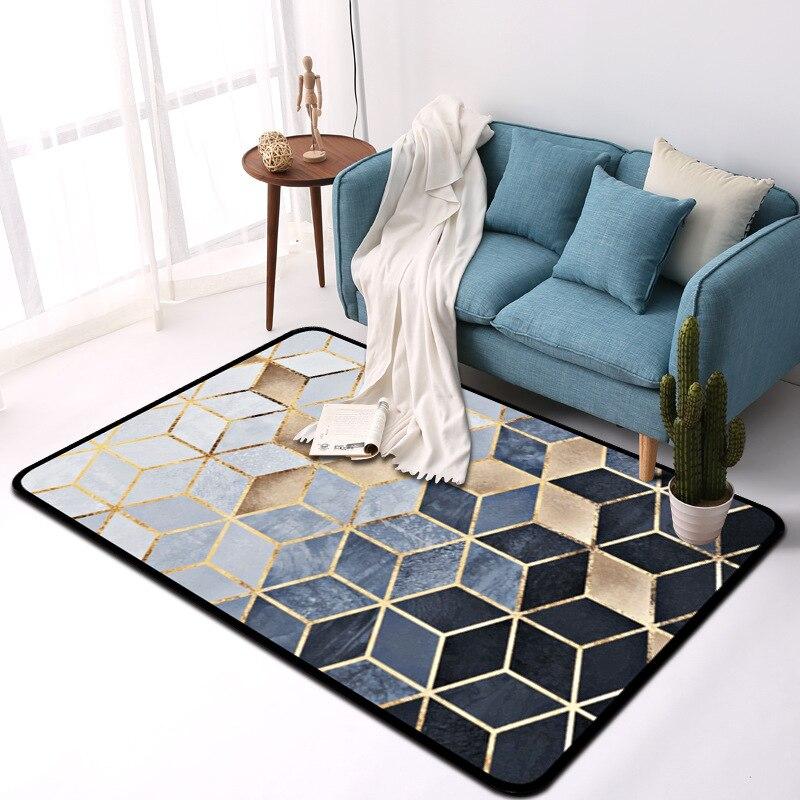 WLIARLEO tapis géométrique grande taille pour salon enfants chambre antidérapant métal Style tapis décoration de la maison tappeto