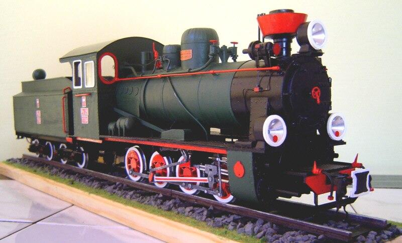 Modèle en papier à monter soi-même Locomotive à vapeur polonaise Px-29 1929 cadeau garçon Papercraft Puzzle 3D