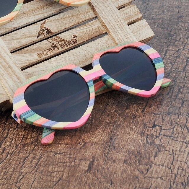 639ecb5549cac BOBO BIRD Brand Unique Design Heart-shaped Wood Sunglasses Women Fashion Sun  glasses Ladies Memento