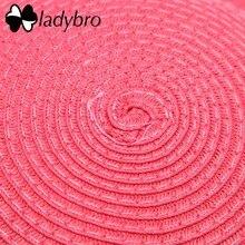 Ladybro Brand Wide Brim Floppy Straw Sun Hat Beach Women Hat Foldable Summer UV Protect Travel Cap Ladies Casual Cap Female