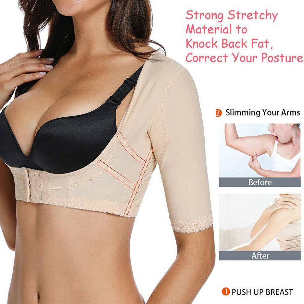 Women/'s Upper Arm Shaper Short Sleeve Slimmer Posture Corrector Tops Compression