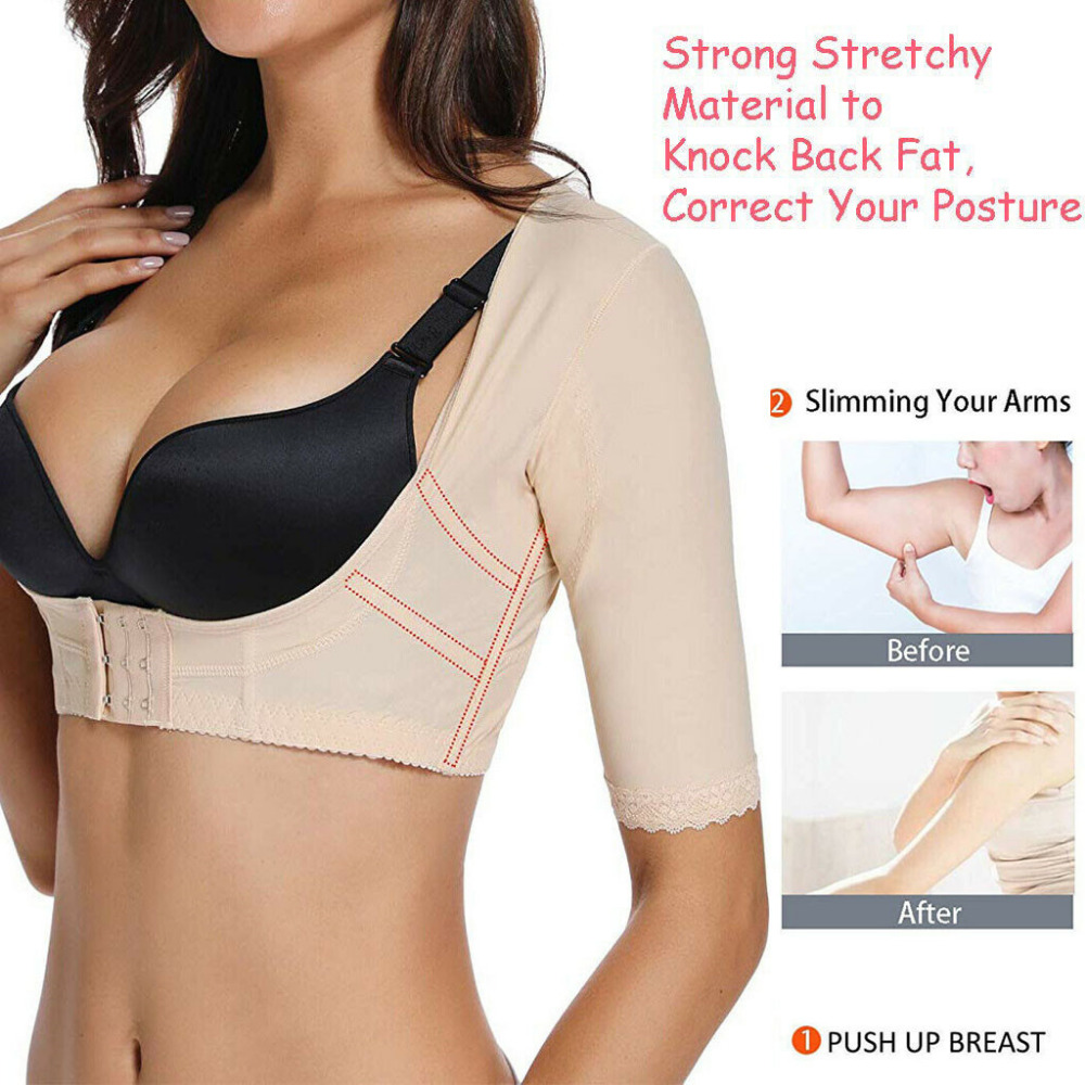 SALE Wonderience Women Upper Arm Shaper Compression Sleeves Post Surgical Slimmer Humpback Posture Corrector Tops Shapewear