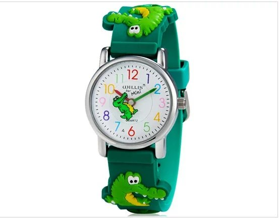 WILLIS Brand Electronic Quartz Watch Children 3D Crocodile Watches For Boys Sports Waterproof Clock Watches Girls hoska h802s children quartz watch