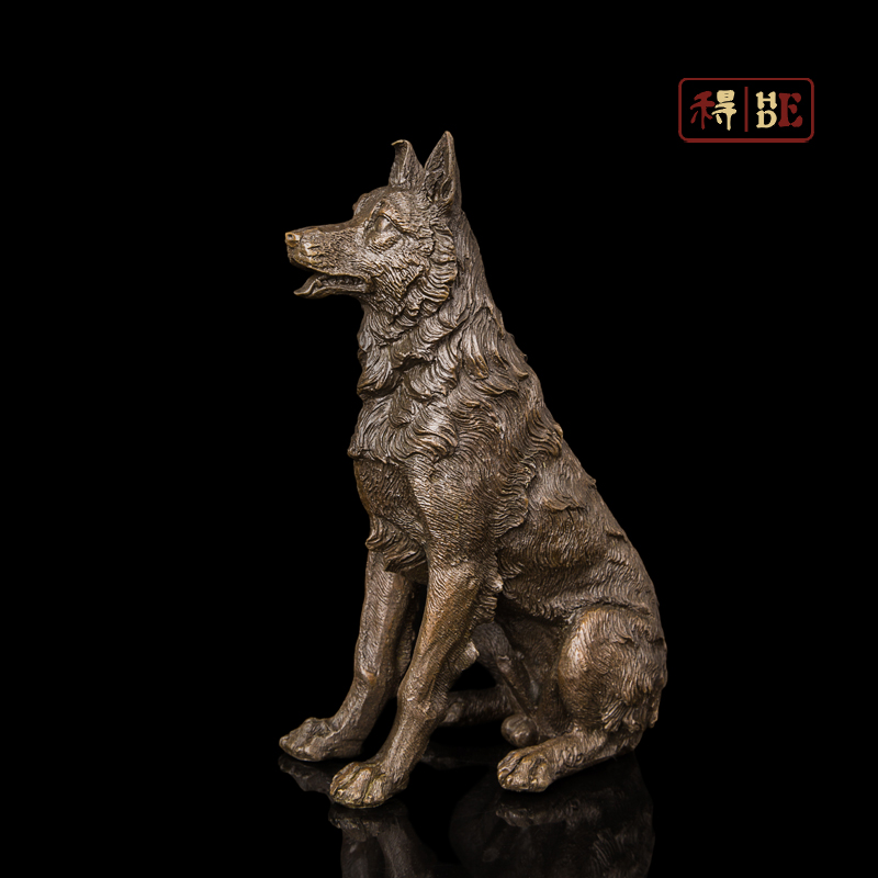 Bronze handicraft animal ornaments Home Furnishing office ornaments collection of small dogs DW-115Bronze handicraft animal ornaments Home Furnishing office ornaments collection of small dogs DW-115