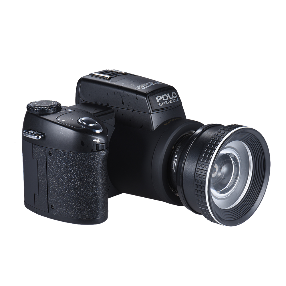 Polo Sharpshots 33MP 1080P 30fps FHD 8X Zoomable Digital Vedio Camera w/ Standard + 0.5X Wide Angle + 24X Telephoto Long Lens
