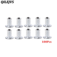 100 Pcs Car Bike Tire Studs Wheel Tyre Flat Spikes Snow Winter Universal 9-10-1mm
