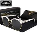 2017 New  Men Retro Rivet Polarized Sunglasses Classic Brand Designer HD circular polarized women sunglasses Unisex Sunglasses