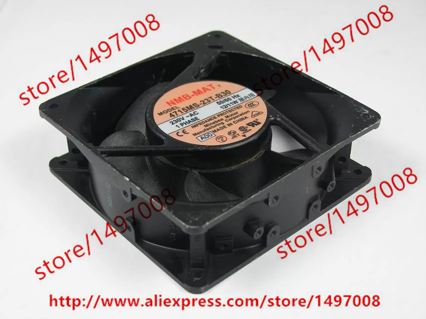 Free Shipping For  NMB 4715MS-23T-B30 A00 AC 230V 12/11W 2-pin 120x120x38mm Server Square Cooling Fan free shipping for adda aa8382hb aw s ac 220 240v 0 07 0 06a 2 pin 80x80x38mm server square fan free shipping