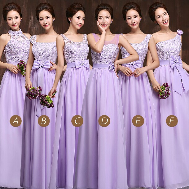 Bridesmaids Dresses Sisters Group Champagne Women Bridesmaid Dress Wedding Evening Plus Size Free Shipping Wd910 In From