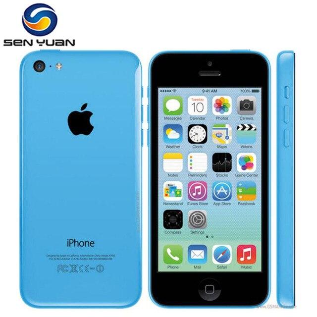 Used iPhone 5c Original Unlocked Apple iPhone 5C IOS GPS WIFI Dual Core 4.0'' Display 8GB/16GB/32GB iphone5c Cellphone Free Gift 1