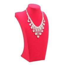 Showcase Necklace Display-Stand Jewelry Mannequin Model-Shelf Pendant Bust-Frame Velvet
