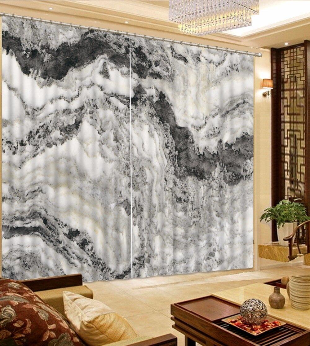 Moderne Wohnzimmer Vorhänge Blackout Hand Bemalt berglandschaft ...